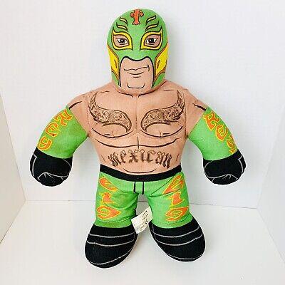 "WWE Mattel Rey Mysterio Brawlin Buddies 2011 Plush Stuffed Wrestler 16"" Read"