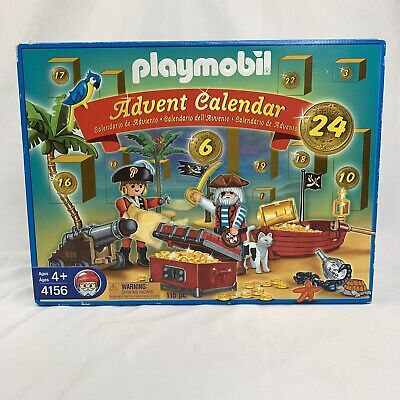 Christmas Advent Calendar Playmobil Pirates 4156 Retired 115 Pieces Sealed New