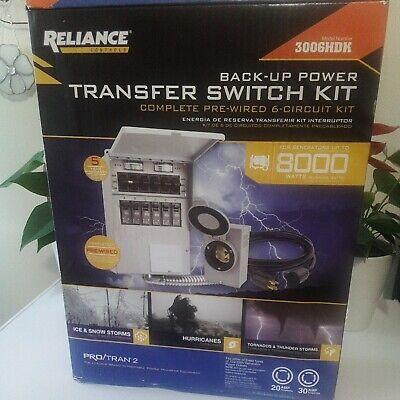 Reliance Transfer Switch Model 3006hdk