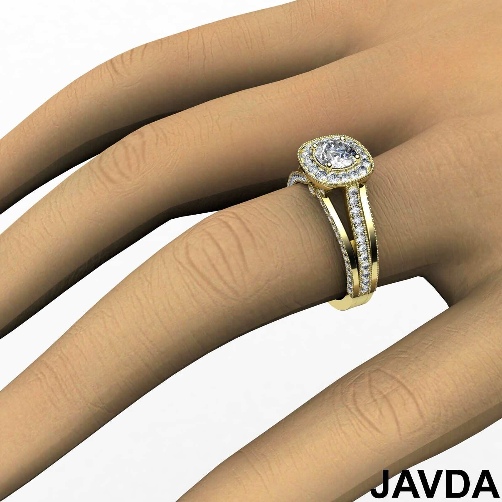 1.6ctw Bridge Accent Round Diamond Engagement Ring GIA E-VVS2 White Gold Rings 9