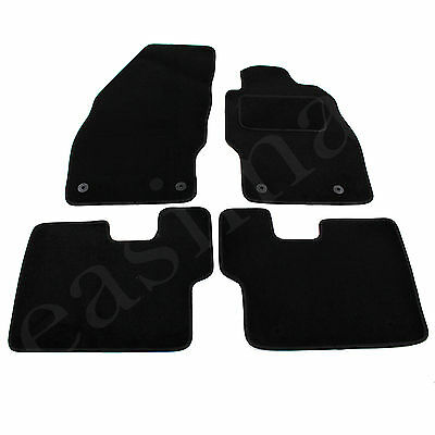 Vauxhall Corsa D  E 2006 onwards Tailored Carpet Car Mats Black 4pcs Floor Set
