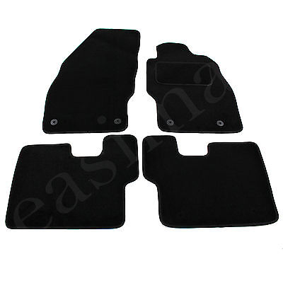 Car Parts - Vauxhall Corsa D & E 2006 onwards Tailored Carpet Car Mats Black 4pcs Floor Set