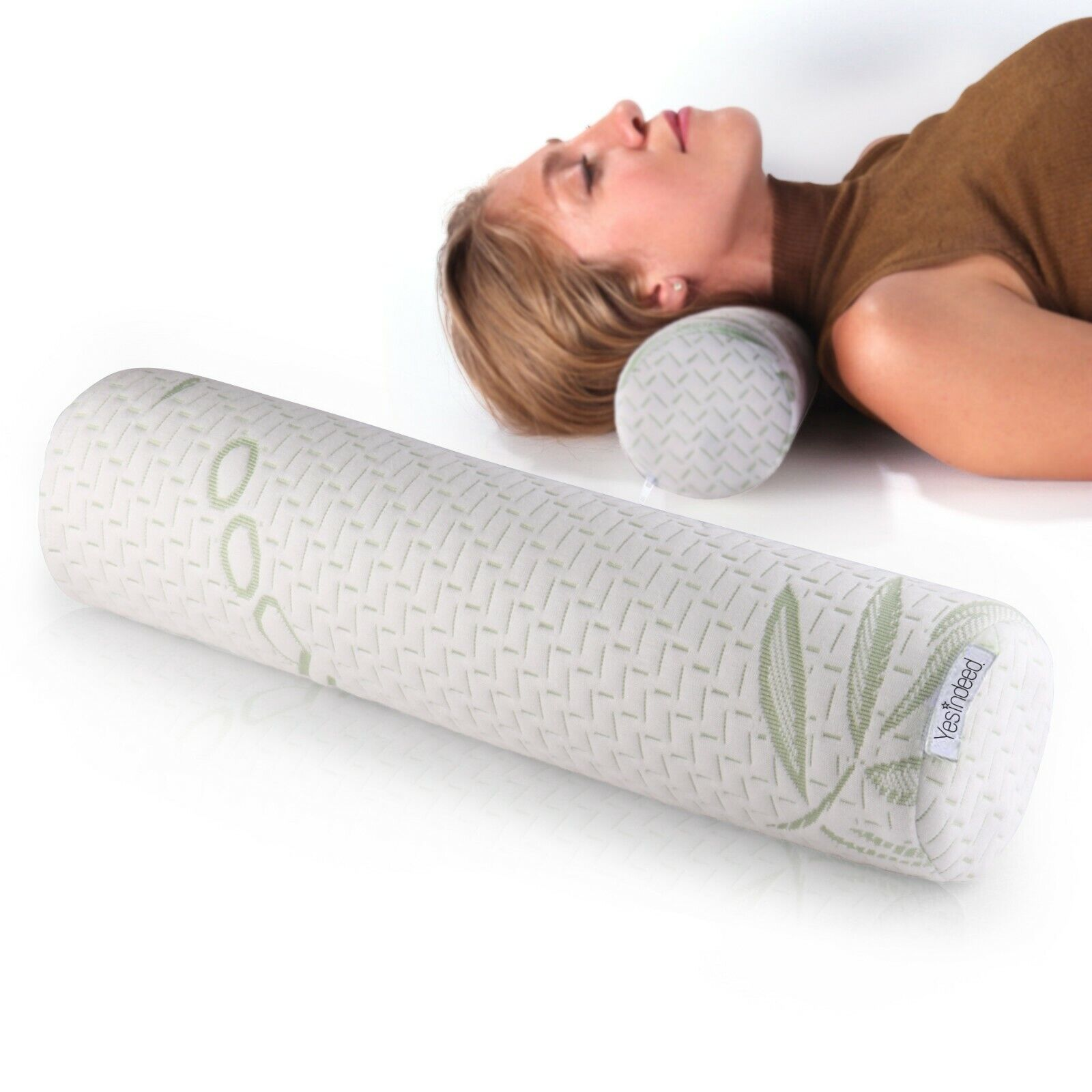 Memory Foam Neck Roll Pillow Bolster – Neck Support Pillows