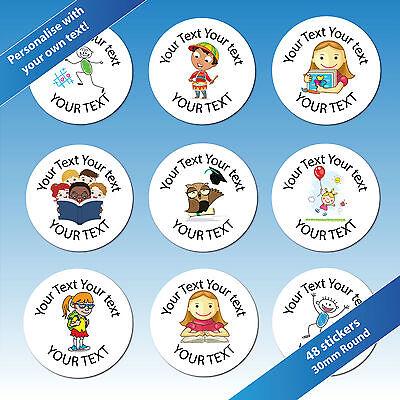 Personalisierte Themen (48 30mm Kinder/Kinder Themen Personalisiert Belohnung Lehrer Aufkleber Etiketten)