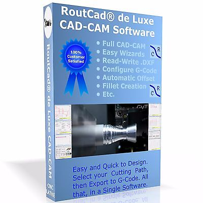 Cad Cam Software Routcad To Generate G-code For Mach 3 Emc2 Etc. For Cnc Lathe