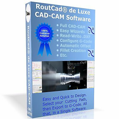 Cad Cam Software Routcad To Generate G-code For Mach 3 Emc2 For Cnc Lathe Cdrom