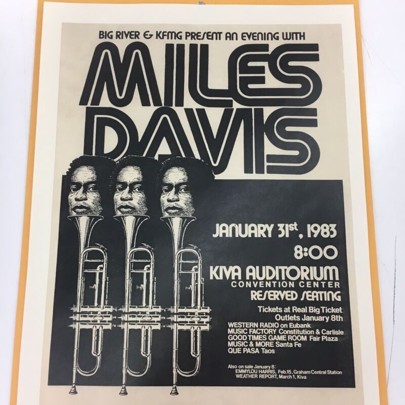 MILES DAVIS CONCERT FLYER
