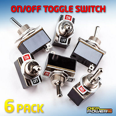 6 X Radioshack Spst Toggle Switch Onoff Label 3a 125v 2750602 Bulk Pack New