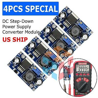 4x Lm2596s 3a Dc Buck Step-down Adjustable Voltage Power Converter Voltmeter