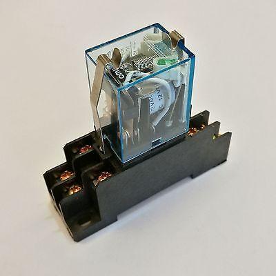 Us Stock Ly2nj Hh62p-l Jqx-13f Relay 110v Ac Coil 10a Ptf08a Socket Base
