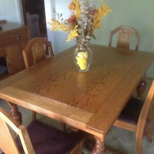 Vintage Dining room set, solid Oak