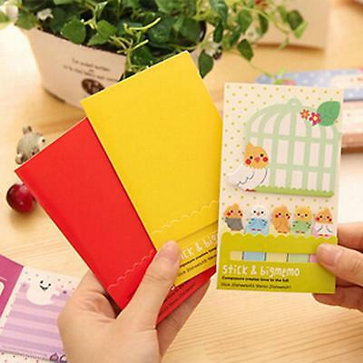 1x Students Bookmark Point It Affixed Memo Marker Desk Paste Stick Note Pad Set