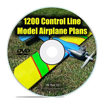 b952e0ff041 1,200 Control Line Remote Control RC Radio Model Aircraft Plans, Guides DVD  I25