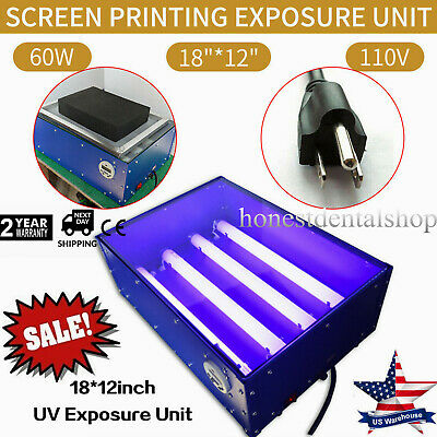 Exposure Unit Uv Screen Printing 18 X 12 Inch Silk Screen Kit For Printing 415w