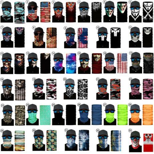 Face Mask Balaclava Scarf Neck Fishing Shield Sun Gaiter UV Headwear 90 Styles