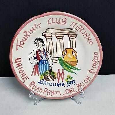 PIATTO DEL BUON RICORDO RISTORANTI TOURING CLUB ITALIANO BASILICATA 1993 VIETRI