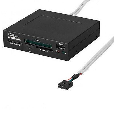 Cardreader Hub USB 2.0 intern 8,9cm (3,5) Kartenleser PC Frontpanel goobay #133