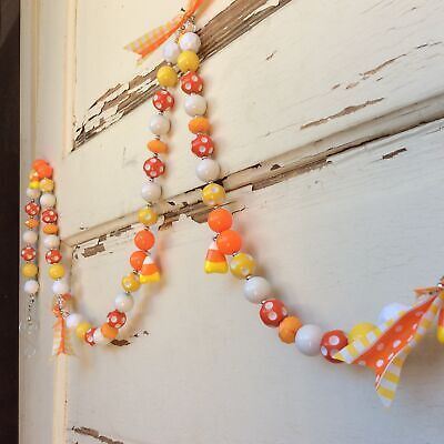 AGD Halloween Decor – Candy Corn Chunky Bead String Garland #17-711/01