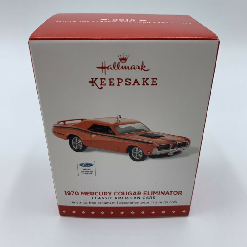 Hallmark Keepsake Ornament 1970 Mercury Cougar Eliminator Classic Car 2015