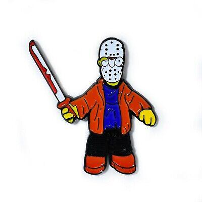 Homer Simpson Jason Voorhees Hockey Mask Machete Horror Pin Collectible Pin - Homer Simpson Mask