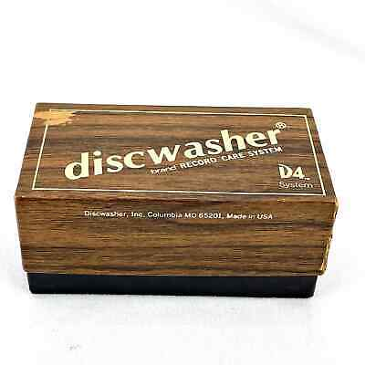 Vintage discwasher D4 Record Care System Brush Walnut