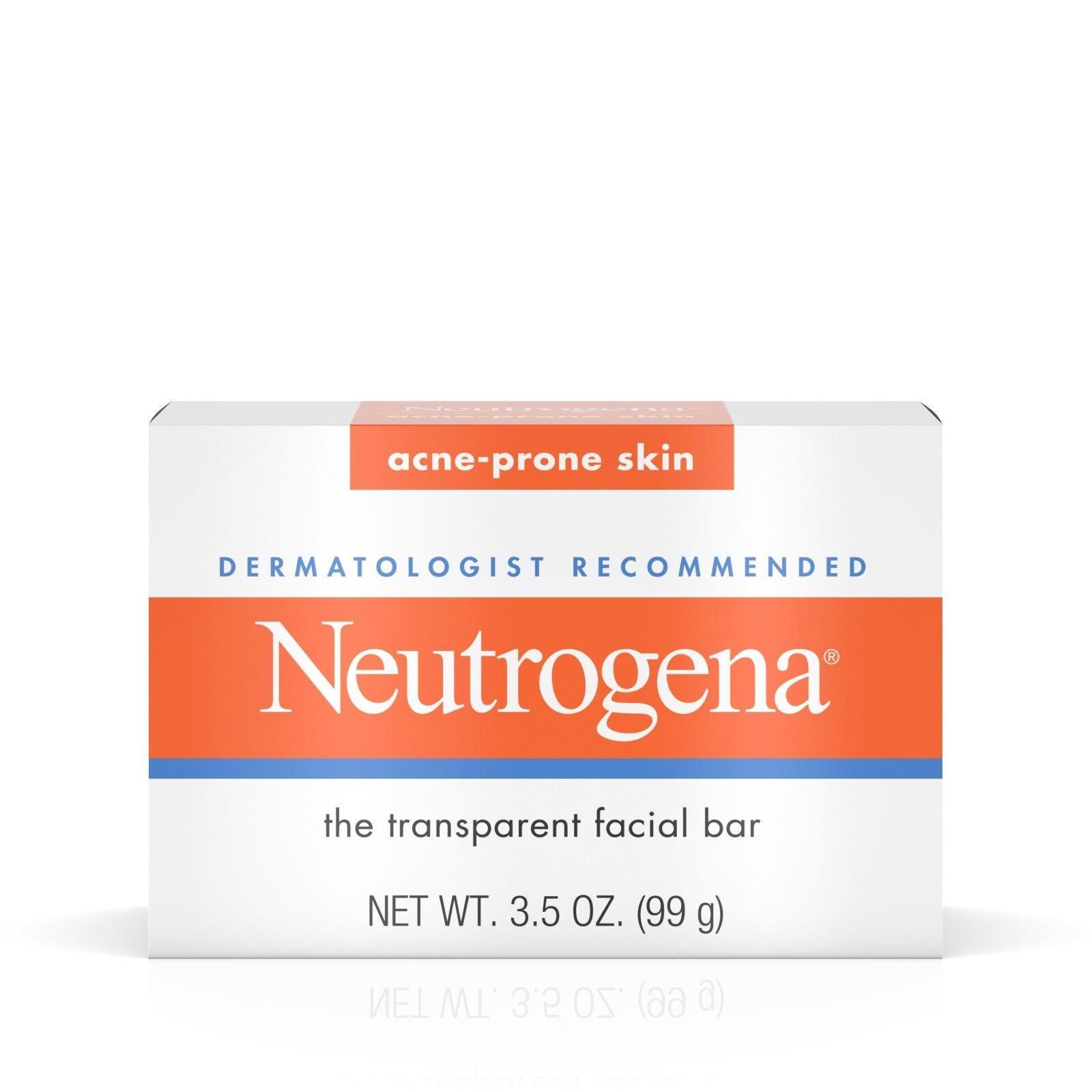 Neutrogena Transparent Facial Bar, Acne-Prone Skin Formula S