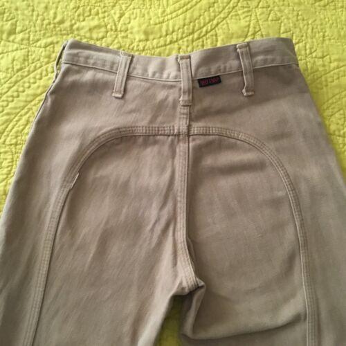 VTG 70s Red Snap || High Waist Saddleback Bell Bottom Tan Jean Pants