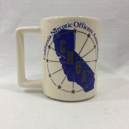 Vintage California Narcotics Officer Association CNOA Police Coffee Mug Cup