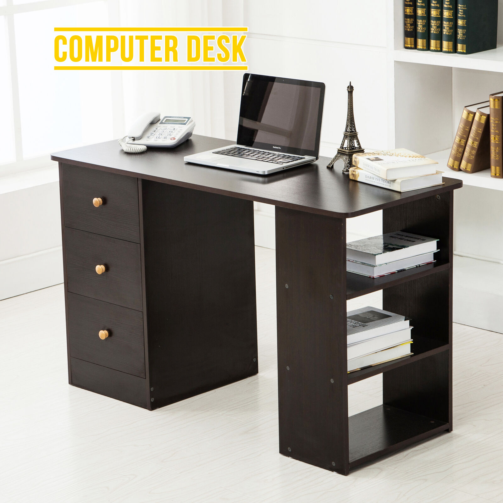 Corner Computer Desk Home Office Pc Table Workstation