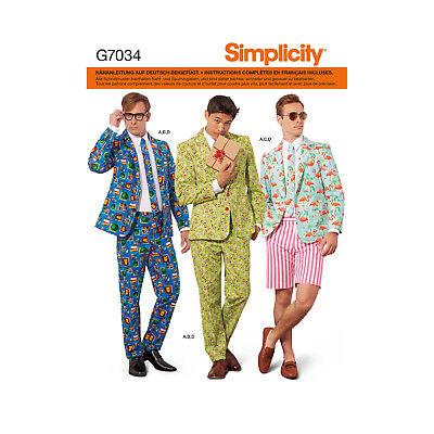 Schnittmuster Simplicity Nr. 7034 Anzug, Kostüm für (Nähen Muster Für Kostüm)