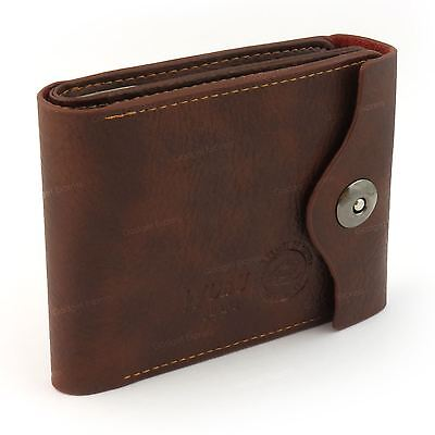 Mens Luxury Soft Quality Leather Wallet Credit Card Holder