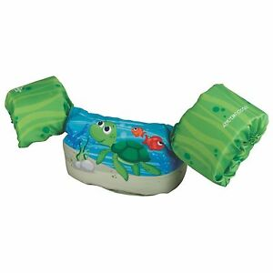Stearns Puddle Jumper Bahama Series Deluxe Kids Life Jacket Vest, Green Turtle