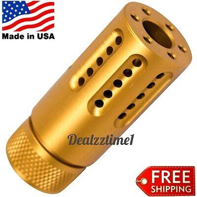 USA MINI Over Barrel thred Multi-Port Muzzle Brake 223/556/22LR 1/2x28 GOLD