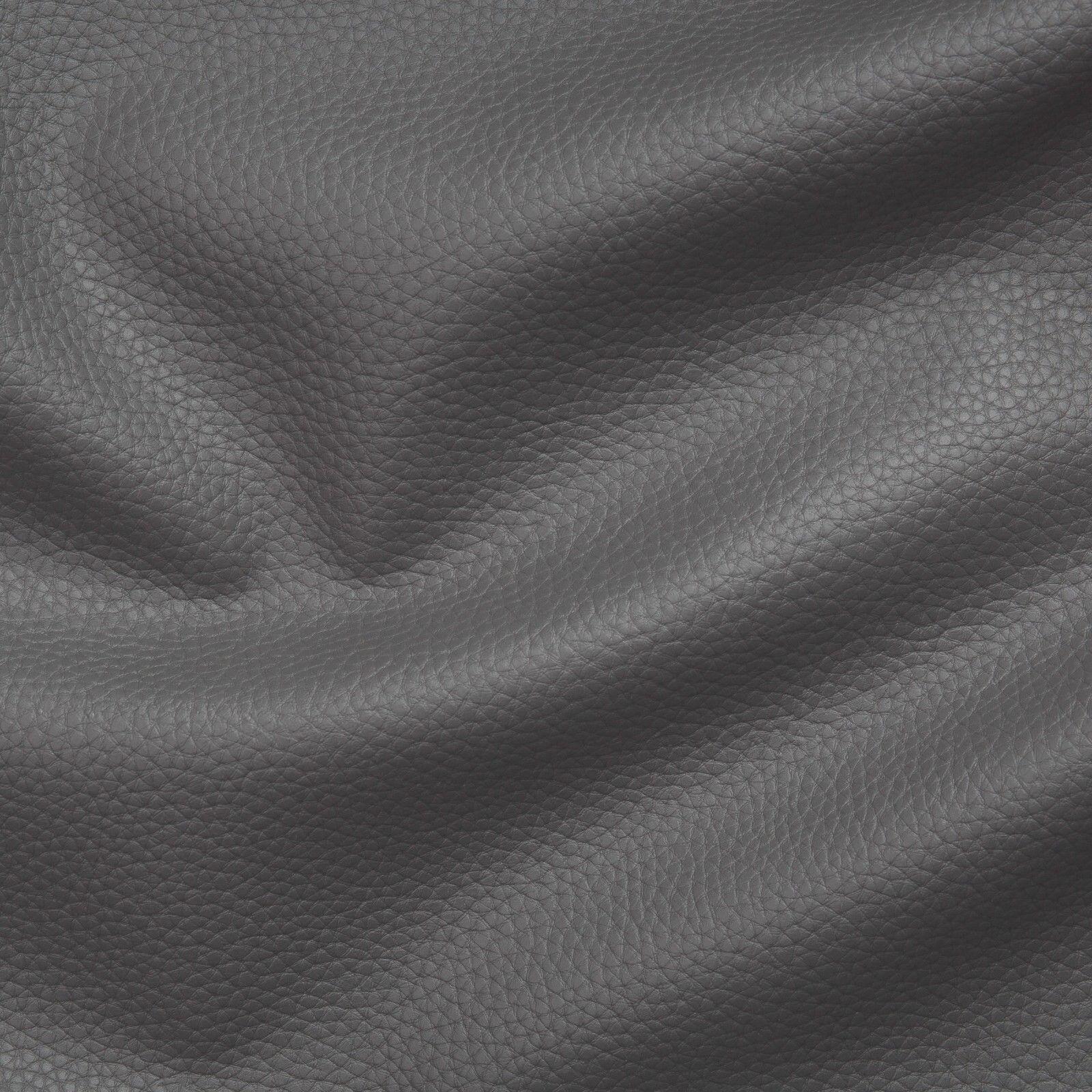 Kunstleder Lederimitat Polsterstoff Meterware Bezugsstoff geprüft dunkelgrau