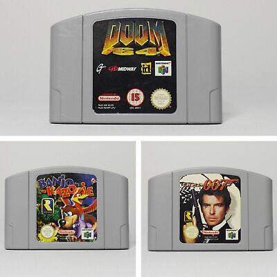 N64 Bundle Doom 64, GoldenEye 007, Banjo-Kazooie