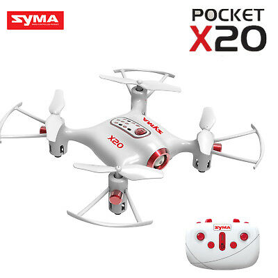 Syma X20 Pocket RC Quadcopter Drone 2.4Ghz 4CH Headless Altitude Hold Mode White