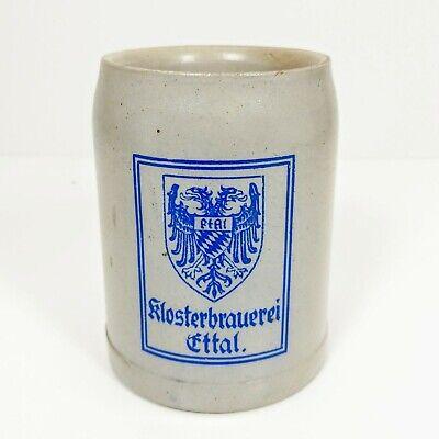 Vtg. Klosterbrauerei Ettal .5L German Stoneware Mug Stein