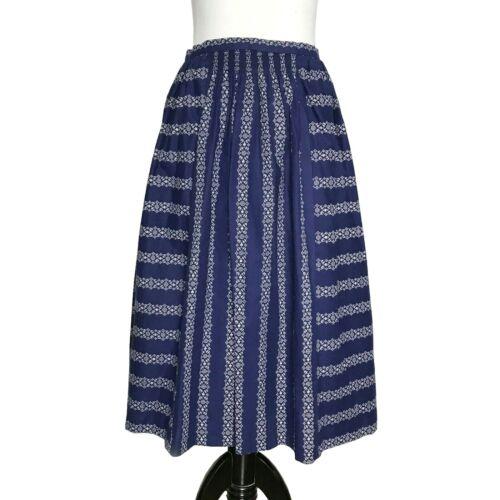 Wenger Bavarian Dirndl Skirt Sz 42 / 12 Blue White Costume Halloween Oktoberfest