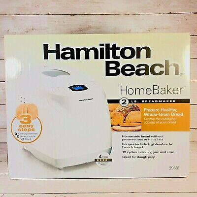 Hamilton Beach 2 lb Digital Bread Maker Home Baker 29881 NEW Ships FAST FREE