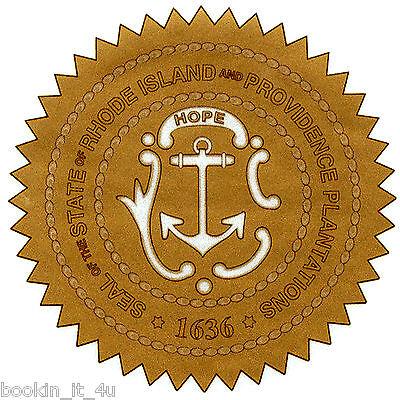 Rhode Island State Seal (***RHODE ISLAND STATE SEAL VINYL  DECAL / STICKER**** )