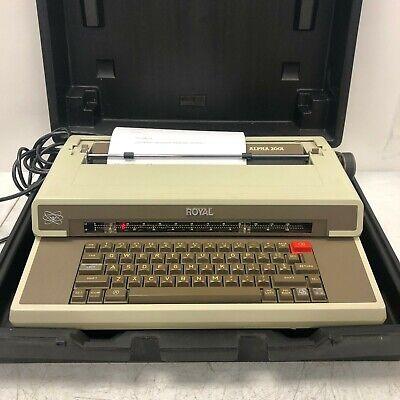 Ta Royal Alpha 2001 Full Size Typewriter Electric German Case Rare Vintage