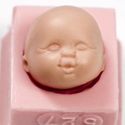Flexible Silicon Mold - Silicone Baby Face Flexible Mold Fondant Gum Paste Resin Polymer Clay Wax  (527)