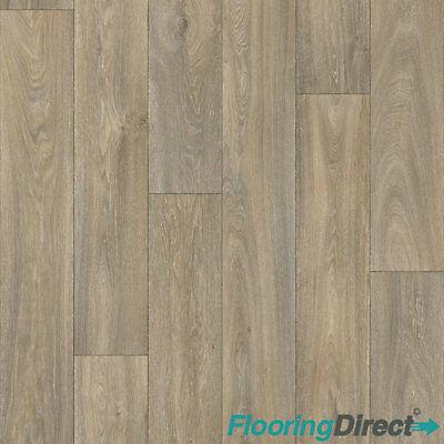 Havanna Oak Wood Effect Vinyl Flooring Kitchen Bathroom Lino Cushion