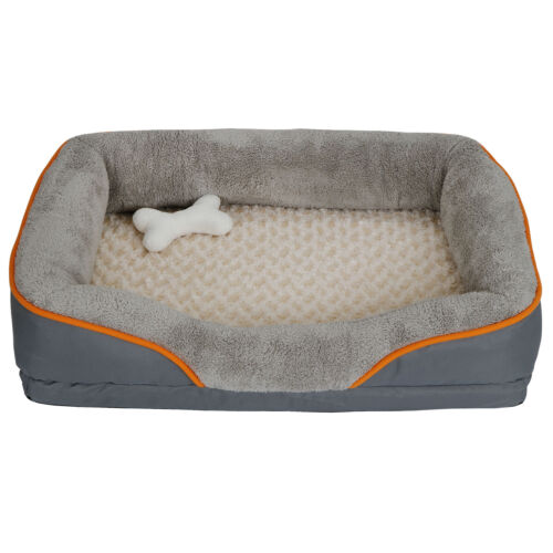 31″ Orthopedic Dog Bed Memory Foam Pet Bed with Removable Washable Cover & Toy Beds