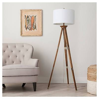 Oak Wood Tripod Floor Lamp - Threshold™