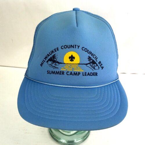 BSA Baseball Cap Boy Scout Leader Blue Mesh Trucker Hat OSFA