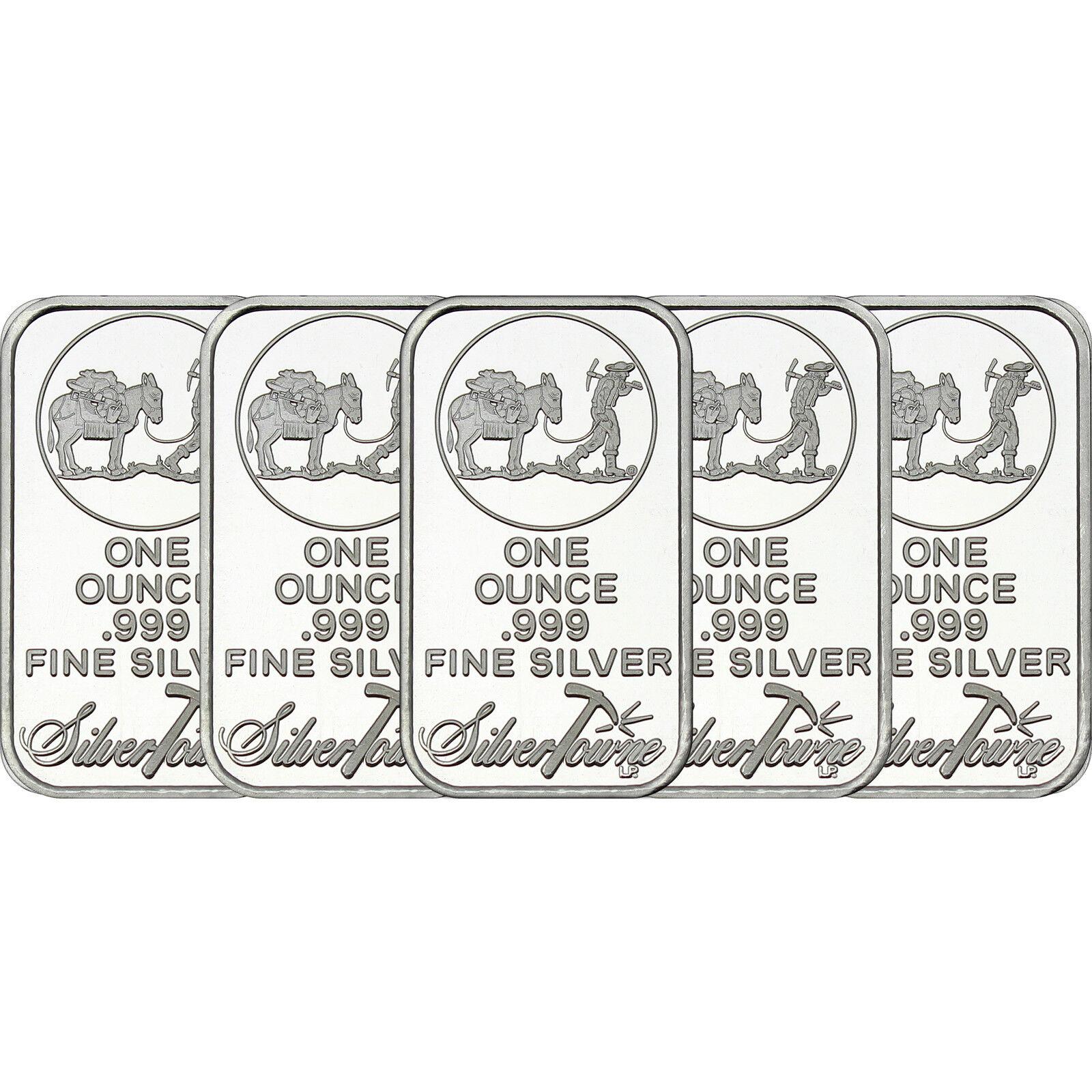 Liberty Eagle by SilverTowne 1oz .999 Fine Silver Round 5pc