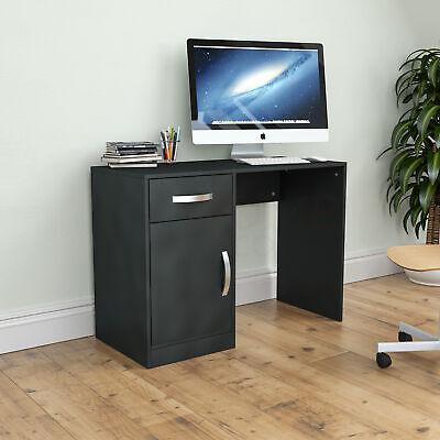 Hudson Computer (Hudson Computer Desk 1 Drawer 1 Door Laptop PC Table Home Office Study Black)