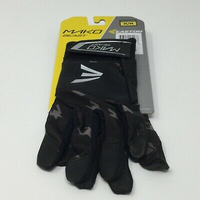 Easton Mako Beast Batting Gloves Black / Silver Size Youth Medium NEW for sale  Shipping to Canada