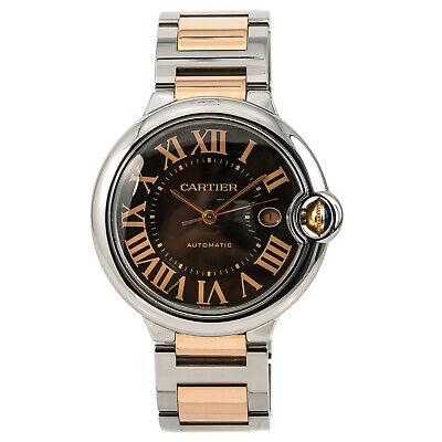 Cartier Ballon Bleu 3001 Men's Automatic Watch SS & 18K Rose Gold With Box 42MM